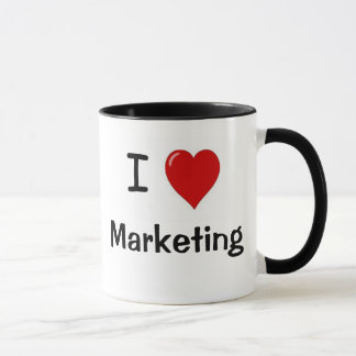 I Love Marketing Marketing Loves Me - Double Sided Mug