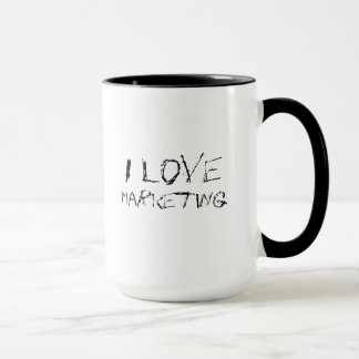 I love marketing - urban, edgy office work mug