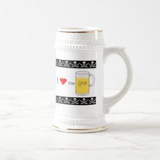 I Love Me Grog 18 Oz Beer Stein
