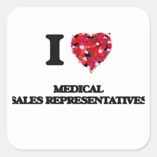 I love Medical Sales Representatives Square Sticker