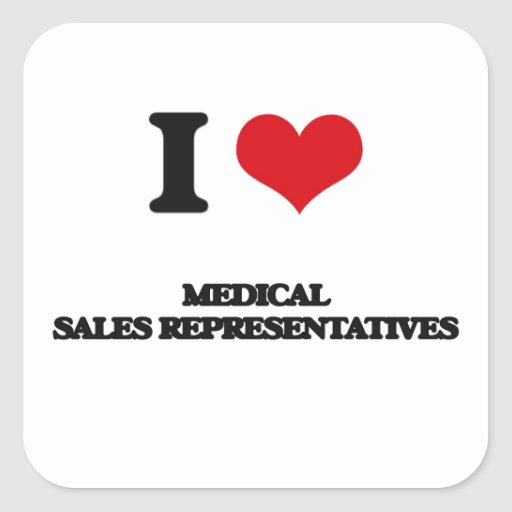I love Medical Sales Representatives Square Sticker