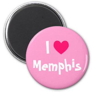 I Love Memphis 6 Cm Round Magnet