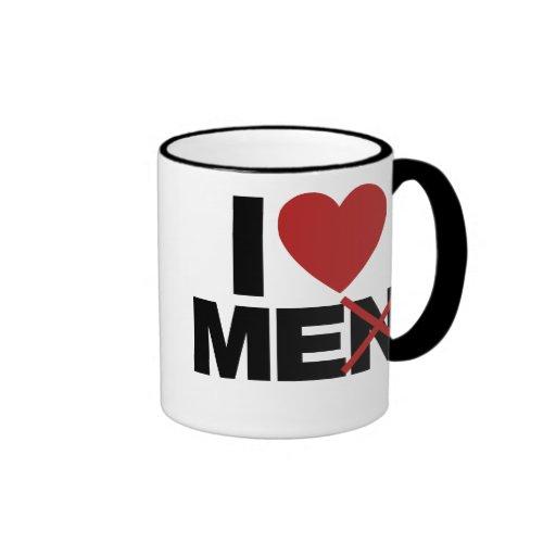 I Love Men Ringer Mug