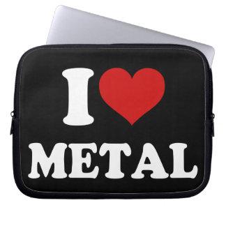 I Love Metal Laptop Sleeve