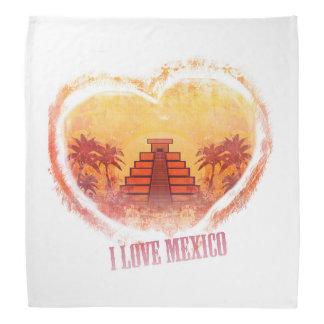 I Love Mexico bandana