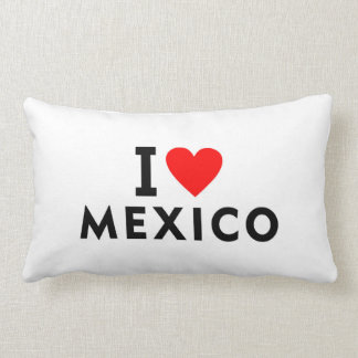 I love Mexico country like heart travel tourism Lumbar Cushion