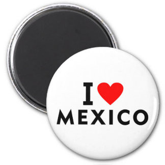 I love Mexico country like heart travel tourism Magnet