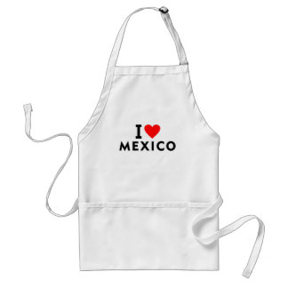 I love Mexico country like heart travel tourism Standard Apron