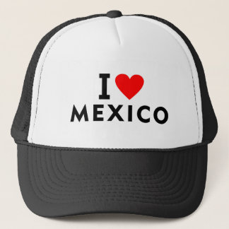I love Mexico country like heart travel tourism Trucker Hat