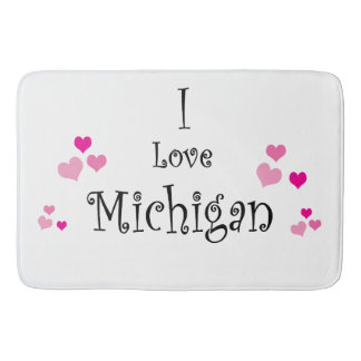 I Love Michigan Bath Mat