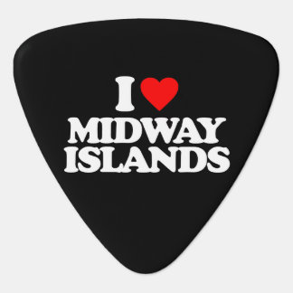 I LOVE MIDWAY ISLANDS GUITAR PICK