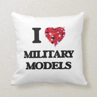 I Love Military Models Throw Cushion