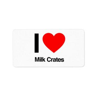 i love milk crates address label