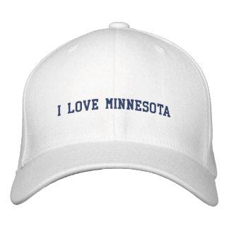 I LOVE MINNESOTA HAT EMBROIDERED CAP