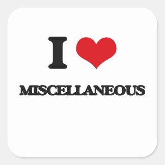 I Love Miscellaneous Square Sticker