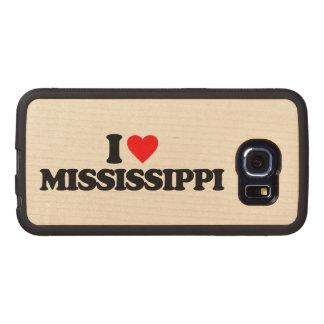 I LOVE MISSISSIPPI WOOD PHONE CASE