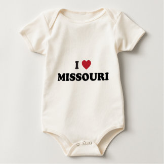 I Love Missouri Baby Bodysuit