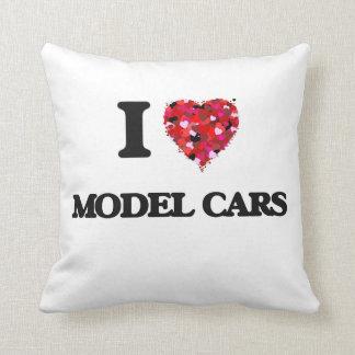 I Love Model Cars Throw Cushion