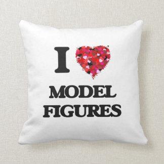 I Love Model Figures Cushions
