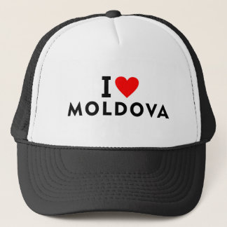I love Moldova country like heart travel tourism Trucker Hat