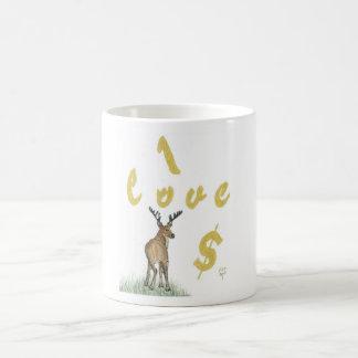I Love Money Deer Mug