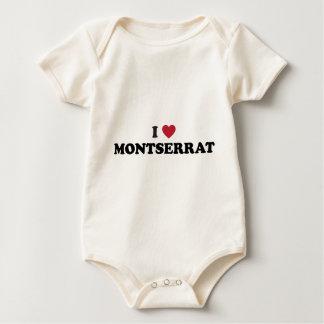I Love Montserrat Baby Bodysuit