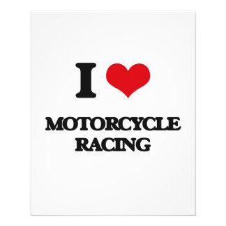 I Love Motorcycle Racing Flyer Design
