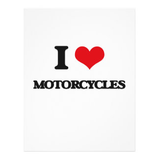 I Love Motorcycles Flyer