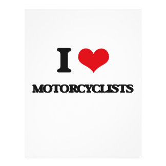 I Love Motorcyclists Flyer Design