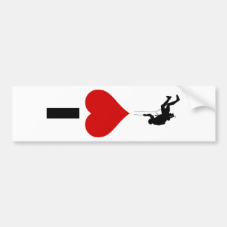 I Love Mountain Climbing (Vertical) Bumper Sticker