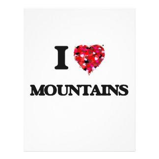 I love Mountains 21.5 Cm X 28 Cm Flyer