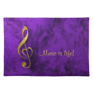 I love music - home decor placemat