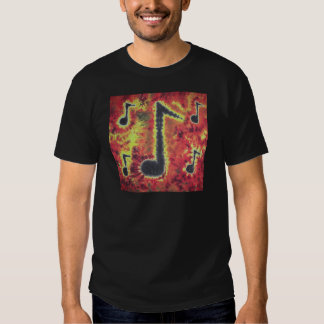 I Love Music Notes Tie Dye Phat Dyes T-shirt