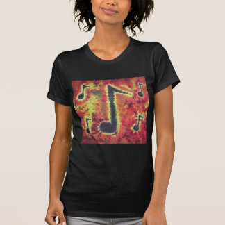 I Love Music Notes Tie Dye Phat Dyes Tee Shirts