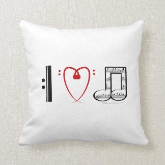 I Love Music Pillow Gift for Musician Home Decor