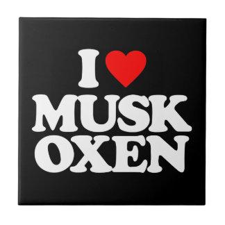 I LOVE MUSK OXEN TILE