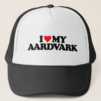 I LOVE MY AARDVARK TRUCKER HAT