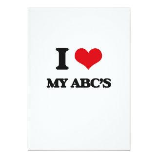 I Love My Abc'S 13 Cm X 18 Cm Invitation Card