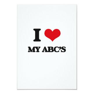 I Love My Abc'S 9 Cm X 13 Cm Invitation Card