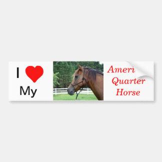 I Love My American Quarter Horse Bumper Sticker