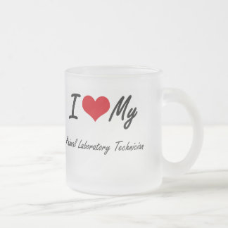I love my Animal Laboratory Technician Frosted Glass Mug