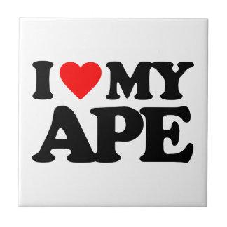 I LOVE MY APE CERAMIC TILE