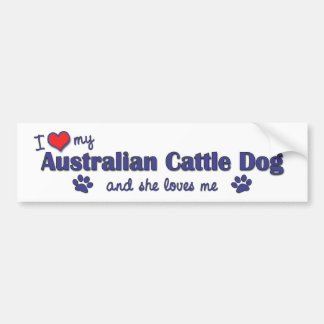 I Love My Australian Cattle Dog (Female Dog) Bumper Sticker
