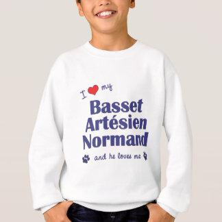I Love My Basset Artesien Normand (Male Dog) Sweatshirt
