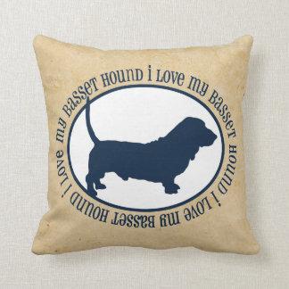 I Love My Basset Hound Cushion