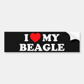 I Love my Beagle Bumper Sticker Car Bumper Sticker