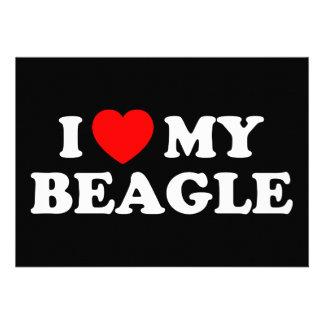 I Love my Beagle Invitation