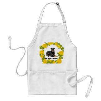 I Love My Beauceron & Yellow Roses Standard Apron