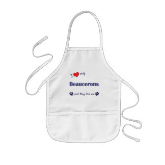 I Love My Beaucerons (Multiple Dogs) Kids Apron