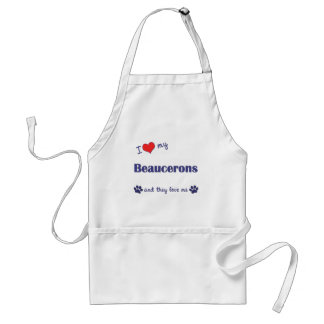 I Love My Beaucerons (Multiple Dogs) Standard Apron